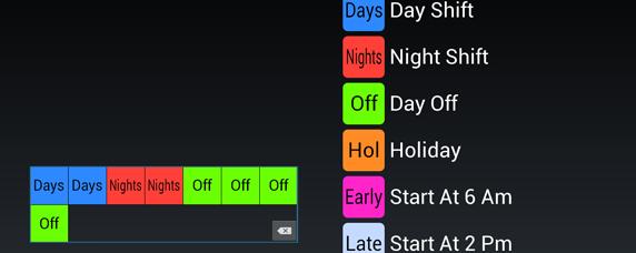 Shift Calendar 4