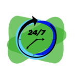 24-7 Clinical Support Icon